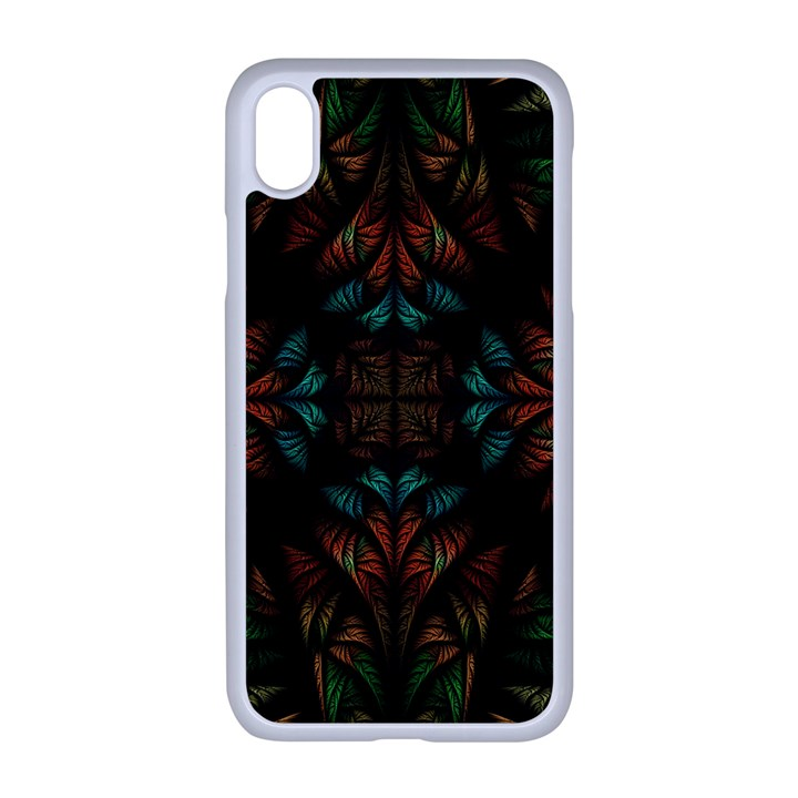 Fractal Fantasy Design Texture iPhone XR Seamless Case (White)