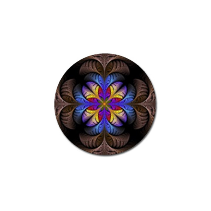 Fractal Flower Fantasy Floral Golf Ball Marker
