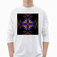 Fractal Flower Fantasy Floral Long Sleeve T Shirt