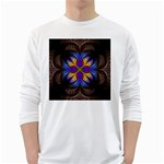 Fractal Flower Fantasy Floral Long Sleeve T-Shirt Front