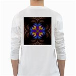 Fractal Flower Fantasy Floral Long Sleeve T-Shirt Back