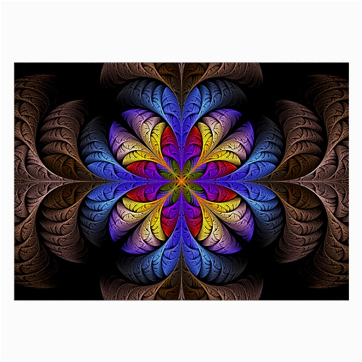 Fractal Flower Fantasy Floral Large Glasses Cloth (2 Sides)