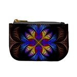 Fractal Flower Fantasy Floral Mini Coin Purse Front