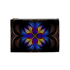 Fractal Flower Fantasy Floral Cosmetic Bag (medium)