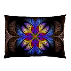 Fractal Flower Fantasy Floral Pillow Case (two Sides)
