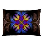 Fractal Flower Fantasy Floral Pillow Case (Two Sides) Back