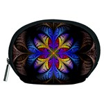 Fractal Flower Fantasy Floral Accessory Pouch (Medium) Front