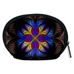Fractal Flower Fantasy Floral Accessory Pouch (Medium) Back