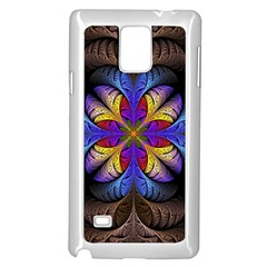 Fractal Flower Fantasy Floral Samsung Galaxy Note 4 Case (white)