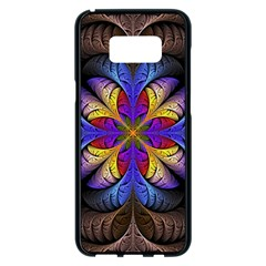 Fractal Flower Fantasy Floral Samsung Galaxy S8 Plus Black Seamless Case