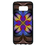 Fractal Flower Fantasy Floral Samsung Galaxy S8 Plus Black Seamless Case Front