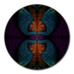 Art Abstract Fractal Pattern Round Mousepads Front