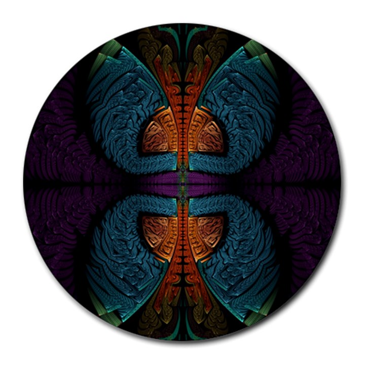 Art Abstract Fractal Pattern Round Mousepads