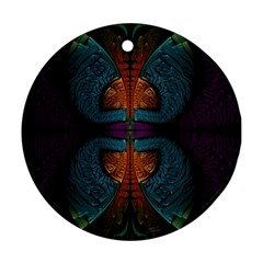 Art Abstract Fractal Pattern Ornament (round)