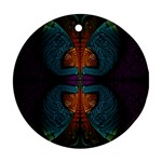 Art Abstract Fractal Pattern Ornament (Round) Front