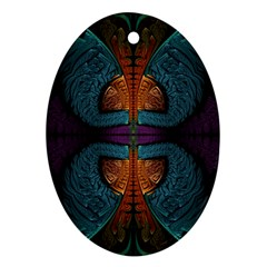 Art Abstract Fractal Pattern Ornament (oval)