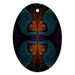 Art Abstract Fractal Pattern Ornament (Oval) Front