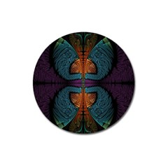 Art Abstract Fractal Pattern Magnet 3  (round)