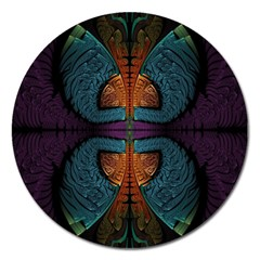 Art Abstract Fractal Pattern Magnet 5  (round)