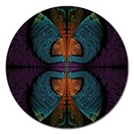 Art Abstract Fractal Pattern Magnet 5  (Round) Front