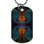 Art Abstract Fractal Pattern Dog Tag (Two Sides) Back