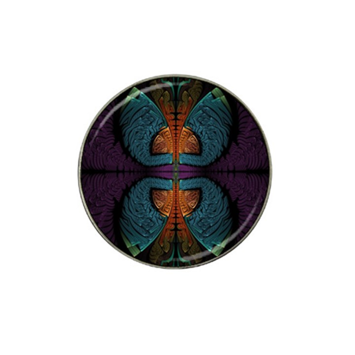 Art Abstract Fractal Pattern Hat Clip Ball Marker (4 pack)