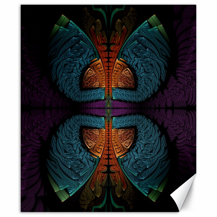 Art Abstract Fractal Pattern Canvas 20  x 24