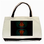 Art Abstract Fractal Pattern Basic Tote Bag (Two Sides) Back