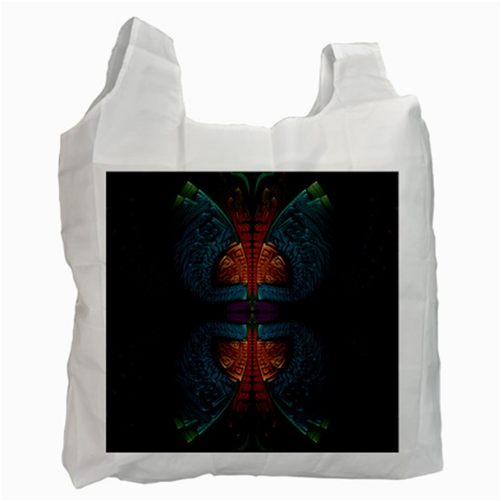 Art Abstract Fractal Pattern Recycle Bag (Two Side)