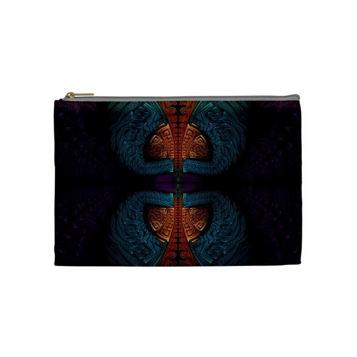 Art Abstract Fractal Pattern Cosmetic Bag (Medium)