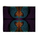 Art Abstract Fractal Pattern Cosmetic Bag (XL) Front