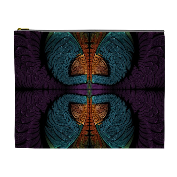 Art Abstract Fractal Pattern Cosmetic Bag (XL)