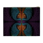 Art Abstract Fractal Pattern Cosmetic Bag (XL) Back