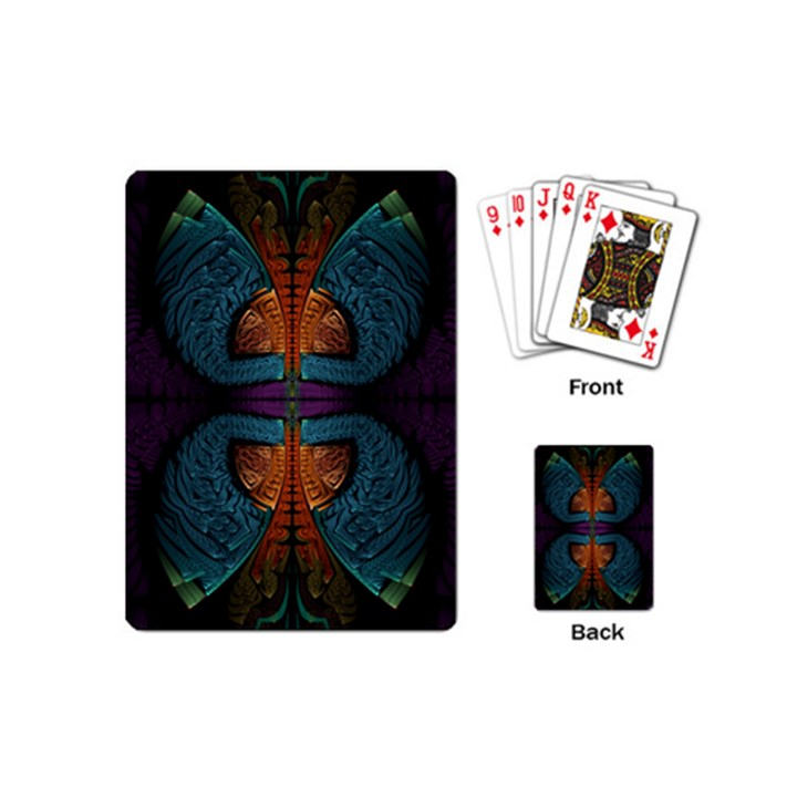 Art Abstract Fractal Pattern Playing Cards Single Design (Mini)