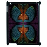 Art Abstract Fractal Pattern Apple iPad 2 Case (Black) Front