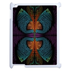 Art Abstract Fractal Pattern Apple Ipad 2 Case (white)