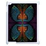 Art Abstract Fractal Pattern Apple iPad 2 Case (White) Front