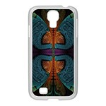 Art Abstract Fractal Pattern Samsung GALAXY S4 I9500/ I9505 Case (White) Front