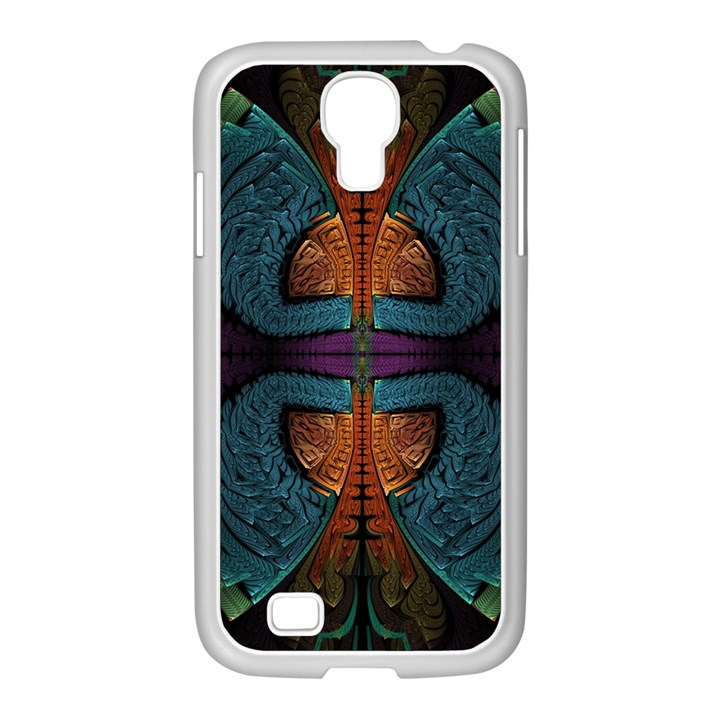 Art Abstract Fractal Pattern Samsung GALAXY S4 I9500/ I9505 Case (White)