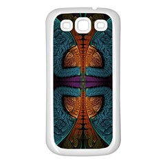 Art Abstract Fractal Pattern Samsung Galaxy S3 Back Case (white) by Wegoenart