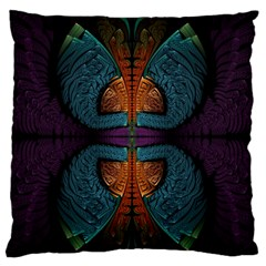 Art Abstract Fractal Pattern Standard Flano Cushion Case (one Side)