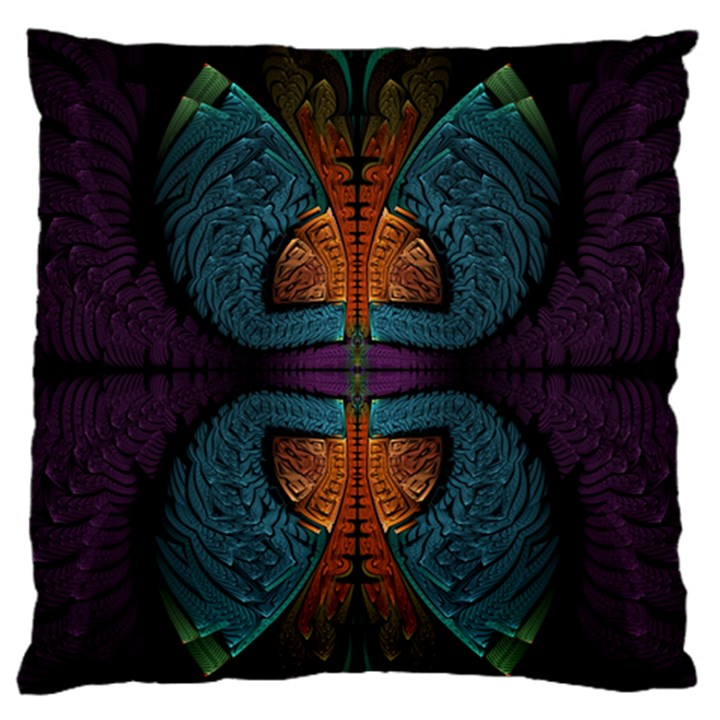 Art Abstract Fractal Pattern Standard Flano Cushion Case (Two Sides)