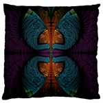 Art Abstract Fractal Pattern Standard Flano Cushion Case (Two Sides) Back