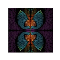 Art Abstract Fractal Pattern Small Satin Scarf (square) by Wegoenart