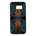 Art Abstract Fractal Pattern Samsung Galaxy S7 Black Seamless Case Front