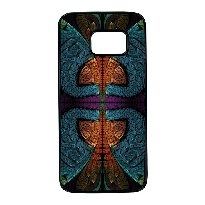 Art Abstract Fractal Pattern Samsung Galaxy S7 Black Seamless Case