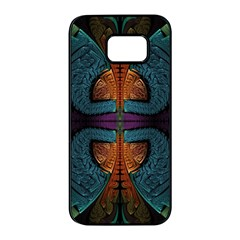 Art Abstract Fractal Pattern Samsung Galaxy S7 Edge Black Seamless Case by Wegoenart