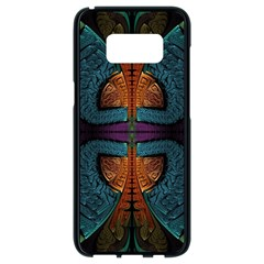 Art Abstract Fractal Pattern Samsung Galaxy S8 Black Seamless Case by Wegoenart