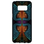 Art Abstract Fractal Pattern Samsung Galaxy S8 Black Seamless Case Front