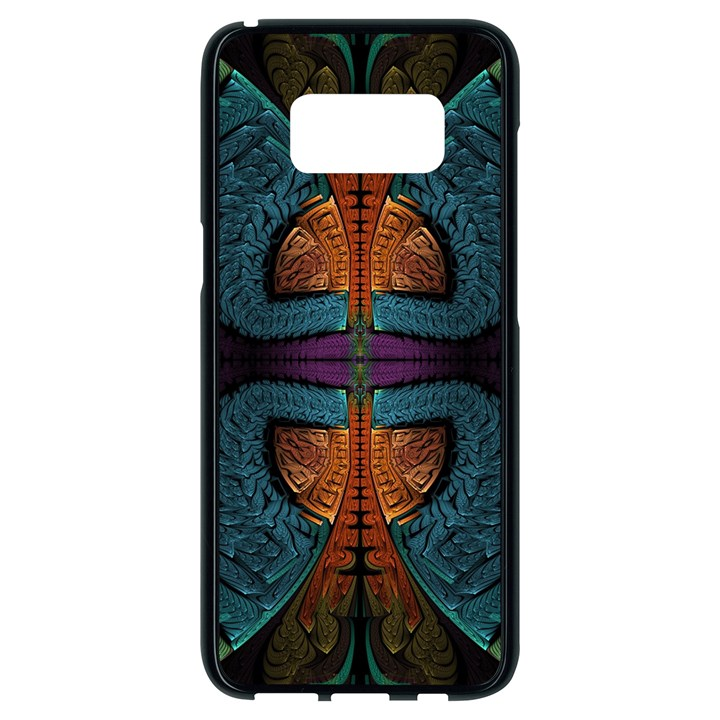 Art Abstract Fractal Pattern Samsung Galaxy S8 Black Seamless Case